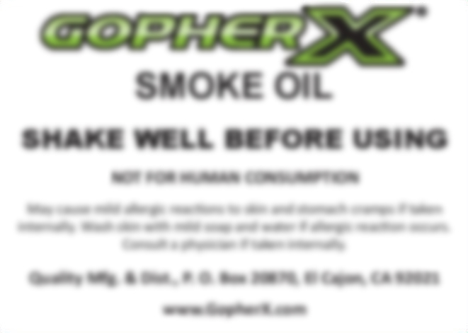 Gopher X Smoke Oil - 1 Pint (Case of 12)