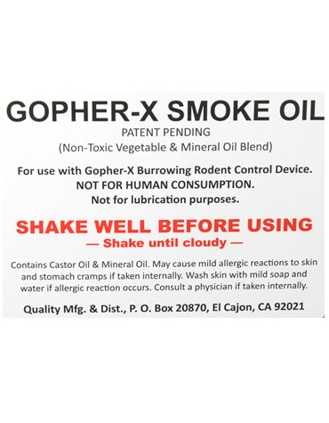 Gopher X Smoke Oil - 1 Gallon (Case of 4)